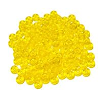 Transparent Yellow Glass 6mm Mini Pony Beads 100pc czech,Czechoslovakian,glass,crow,mini,beads,6mm,small,pony