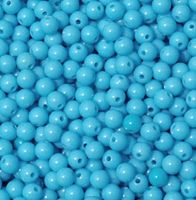 Turquoise Lighter 6mm Round Plastic Beads beads,crafts,plastic,acrylic,round,colors,beading,stores