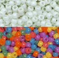 UV Sun Sensitive 9x6mm Pony Beads, Multi Colors 500pc uv, beads, sun, sensitive, science, pony beads,