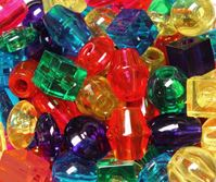 Jumbo 25mm Assorted Shapes Transparent Colors