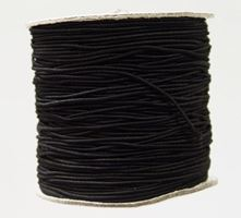2mm Black Elastic Cord string 100M/328ft Spool black,elastic,string,cord,stretch. material