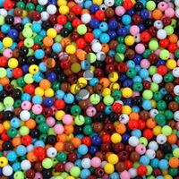 Multi Colors 6mm Round Plastic Beads round,plastic,acrylic,craft,beads,beading,store