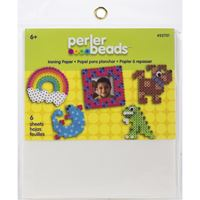Reusable ironing paper for use with Perler fuse beads and pegboards.
