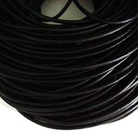 Black Genuine Leather Cord 2.5mm x 5yd black,leather,cord