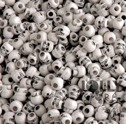 Antiqued White Skull Beads skull,beads,crafts